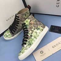 Gucci GG Floral Leather High top Sneaker