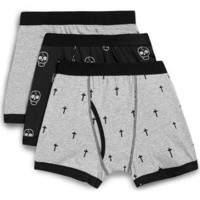 Skull and Cross 3 Pack Underwear - TOPMAN USA