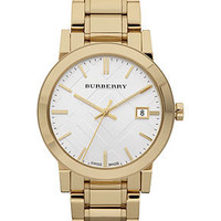 Burberry Watch, Men's Swiss Gold Ion-Plated Stainless Steel Bracelet 38mm BU9003 - All Watches - Jewelry & Watches - Macy's