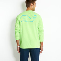 Long-Sleeve Neon Vintage Whale T-Shirt