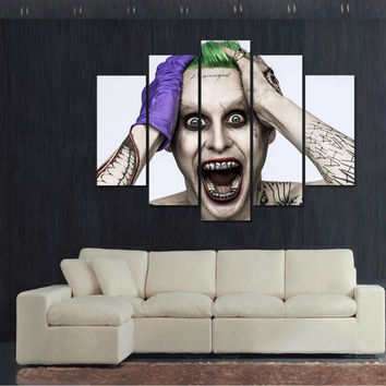 Unframed Halloween joker canvas picture poster modern home decor kids wall art p