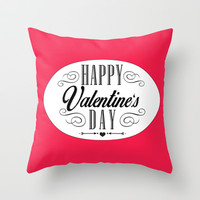 Valentines Day  Throw Pillow by Ashley Hillman