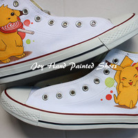 Pokemon Anime Hand Painted Shoes Converse Shoes Pikachu Anime Hand Painted Converse Sneakers Custom Converse Birthday gift for men women