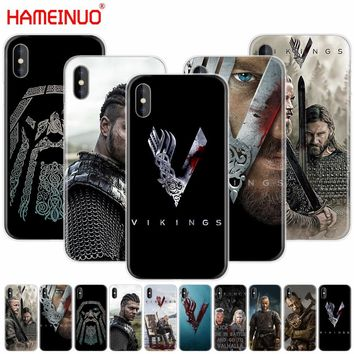 HAMEINUO vikings serie 4 cell phone Cover case for iphone X 8 7 6 4 4s 5 5s SE 5c 6s plus