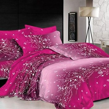 3D Dazzling Branches and Tendrils Printed Cotton Luxury 4-Piece Bedding Sets