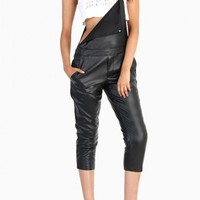 Leather Overalls - Black