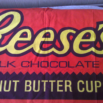 Reese's Peanut Butter Cup Fabric Panel FP0067 by debscrafts55