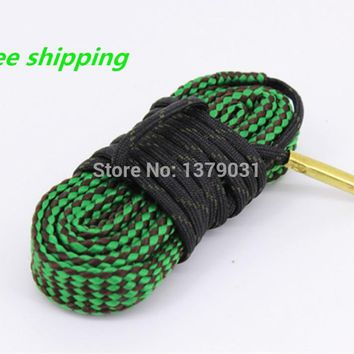 Free Shipping 100% new! .22 .223 5.56 nato Brass rifle/pistol Gun cleaning Weighted Cord Pul
