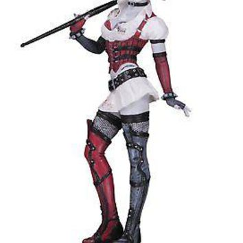 DC Collectibles Harley Quinn Arkham Asylum Red, Black and White Statue