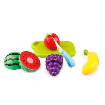 DCCKU7Q 6PC Cutting Fruit Vegetable Pretend Play Children Kid Educational Toy Fruit and vegetables Pretend play Kitchen toys kids