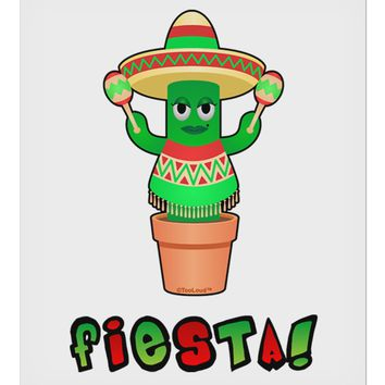"Fiesta Cactus Poncho Text 9 x 10.5"" Rectangular Static Wall Cling by TooLoud"
