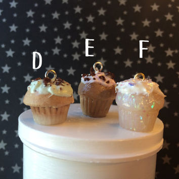 Polymer Clay Realistic Cupcake Charms