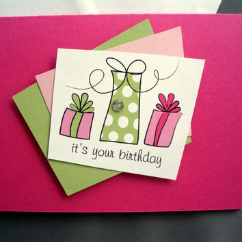 Best happy birthday girl cards products on wanelo pink happy birthday presents card stationery girl birthday card teen birthday card girlfriend happy birthday bookmarktalkfo Gallery