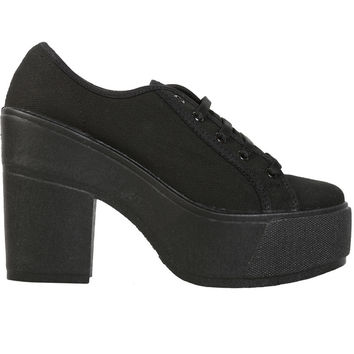 Shellys London FUNCLUO Platform Sneaker - Black