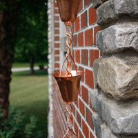 Cute Cup Copper Rain Chain