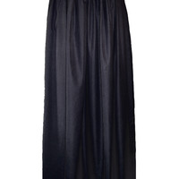 Gathered Cotton Long Maxi Skirt