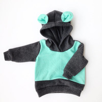 Mint Mountain Baby hoodie