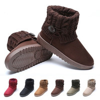 Women Snow Boots Classic Woolen Ankle Boots Winter Warm Fur Platform Shoes Woman Women Snow Boots Classic Woolen Ankle Boots Winter Warm Fur Platform Shoes Woman Flat Heels Ug Botas Mujer Bottes