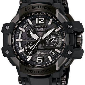 Casio G-Shock Mens Gravitymaster Aviation - GPS Atomic Solar Hybrid - 200M