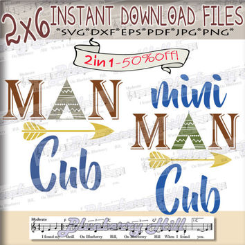 50% Off ! Man Cub SVG - Bundle svg digital - Mama Bear Papa Bear - Bear clipart - SVG file - DIY- Svg - Dxf- Eps - Png -Jpg - Pdf
