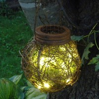 Rustic Outdoor Firefly Lantern Woodland by BriannaPaigeDesigns