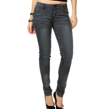 Sale-navy/white Vertical Stripe Skinny Jeans
