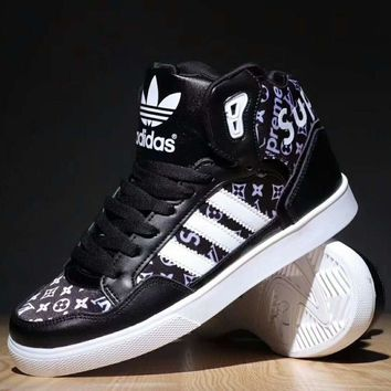 Adidas LV Supreme Trending Women Men Running Sport Casual Shoes Sneakers Black G-SSRS-CJZX-1