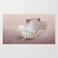 Pearls on a Shell Rug by Jai Johnson