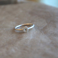 Willow ||| One monogram Fox Initial Stack Sterling Stack Ring- Sterling Silver Stacking Rings