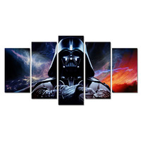 Unframed Printed Star Wars 5 piece picture painting wall art children's room decor poster canvas HD Print on canvas oil painting