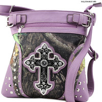 Camo Crossbody Cross Purse