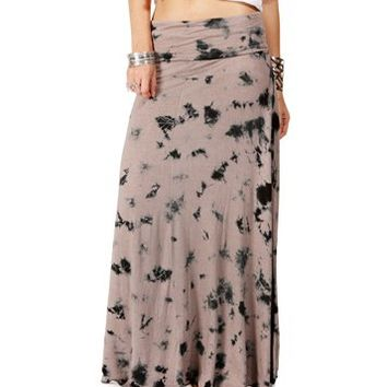 Taupe/Black Maxi Skirt