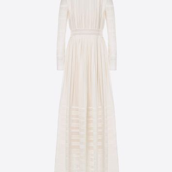 Invisible voile evening dress for Woman | Valentino Online Boutique