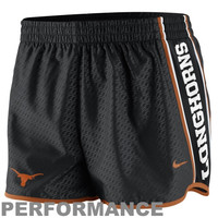 Nike Texas Longhorns Womens Chainmaille Pacer Performance Shorts - Black