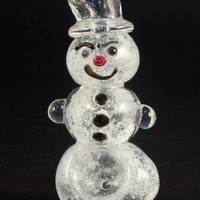 Mini Snowman Glass Pipe - Limited Edition