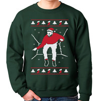 Christmas Bling Crewneck Ugly Christmas Sweater Sweatshirt Funny Pop Culture Meme Humor Joke Geek Geekery Crewneck Mens Womens Kids S-5XL