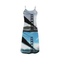 Golden Gate Bridge Collage Slip Dress | ID: D288563