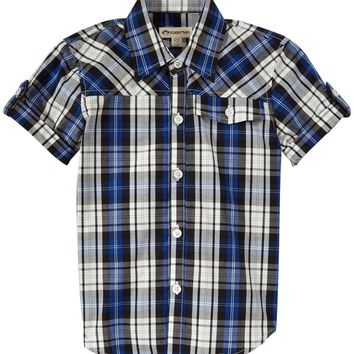 Outlet Appaman Harvey Button Up Blue Plaid Shirt