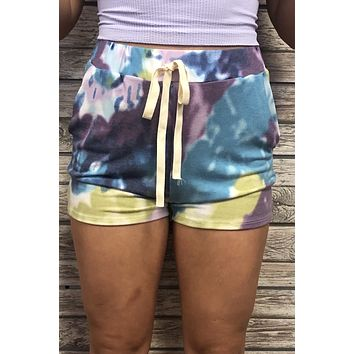 By The Pier Shorts- Blue Multi