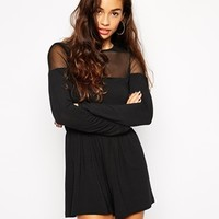 ASOS Playsuit with Mesh Insert