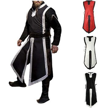 Adult Men Medieval Costume Archer Warrior Cosplay Outfit Roman Soldier Knight Stage