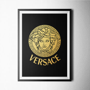 Versace Gold Print, poster, wallart, black and white, minimal, art print, qoute print, quote, quotes, minimalist