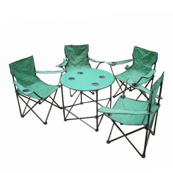 Folding Camping Table & Chairs Set with Carry Bag ( Case of 3 )