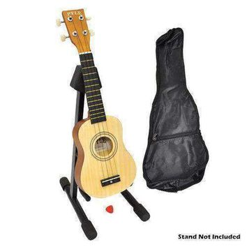 21'' inch Soprano Ukulele, Beginner Kit, Includes Gig Bag, Pick, Pitch Pipe (Natural Light Wood Finish)