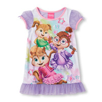 Toddler Girls Short Sleeve Alvin And The Chipmunks Chipettes Nightgown | The Children's Place
