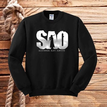 sword art online logo sweater unisex adults
