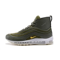 Best Deal Online Riccardo Tisci RT x Nike Air Max 97 Mid Men Sports Shoes Army Green White