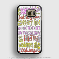 Best Song Ever Lyrics 1D Samsung Galaxy S6 Edge Case, Samsung Cases