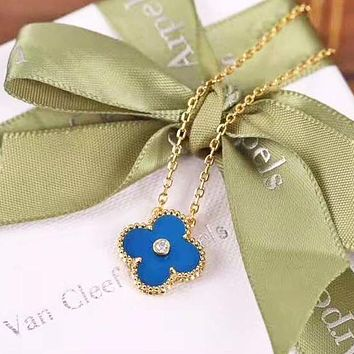Van Cleef & Arpels Fashion New Clover Pendant Necklace Accessory Women