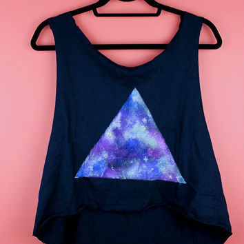 Triangle Galaxy Black Hi-Lo Tank
